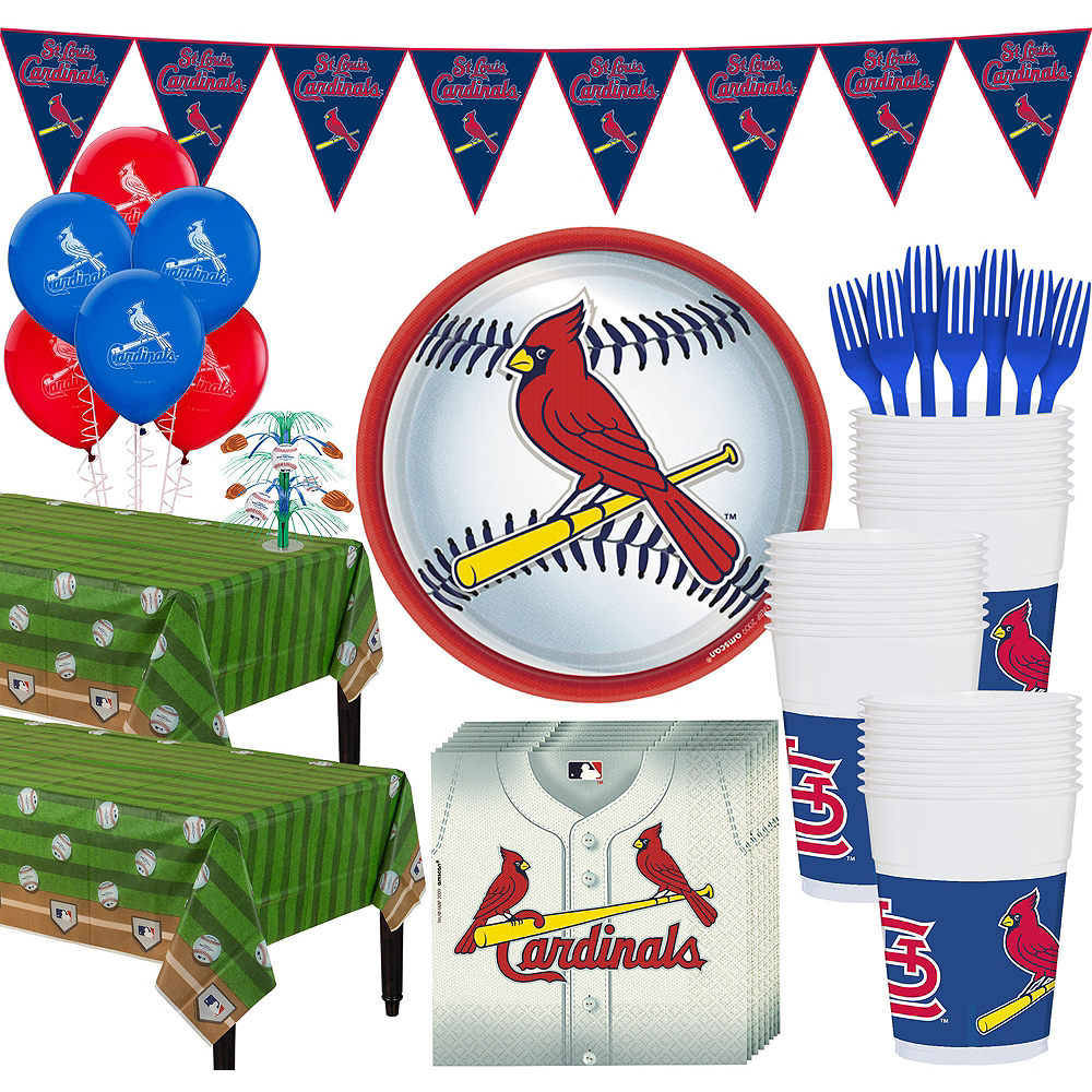 Super St. Louis Cardinals Party Kit for 36 Guests Image #1