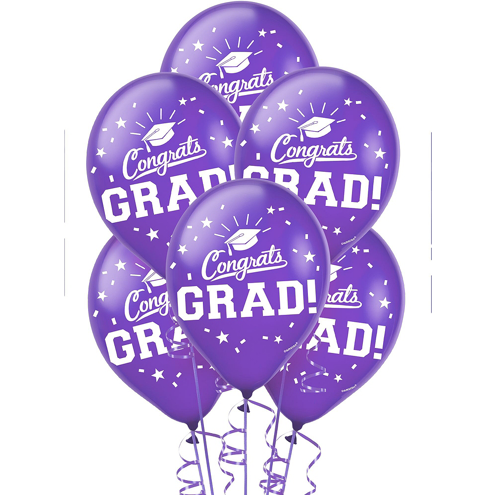 Congrats Grad Purple Graduation Outdoor Decorations Kit Image #3