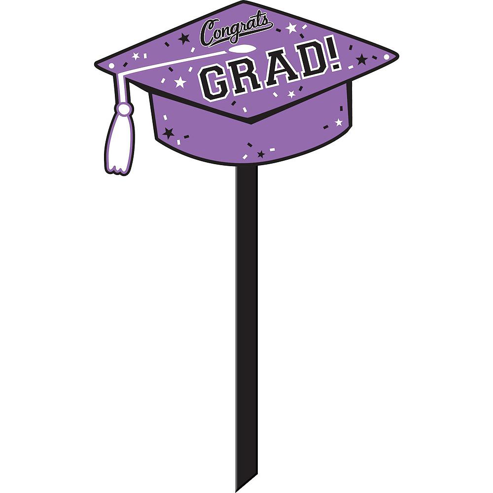 Congrats Grad Purple Graduation Outdoor Decorations Kit Image #6