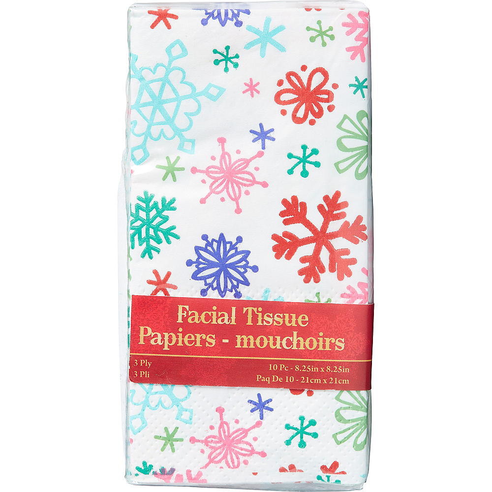 Colorful Snowflake Tissues 10ct Image #1