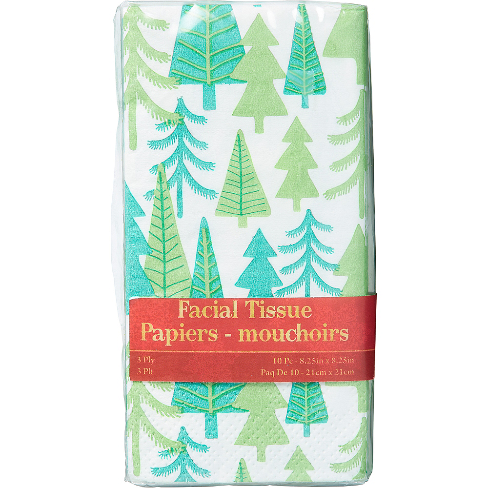 Christmas Tree Tissues 10ct Image #1