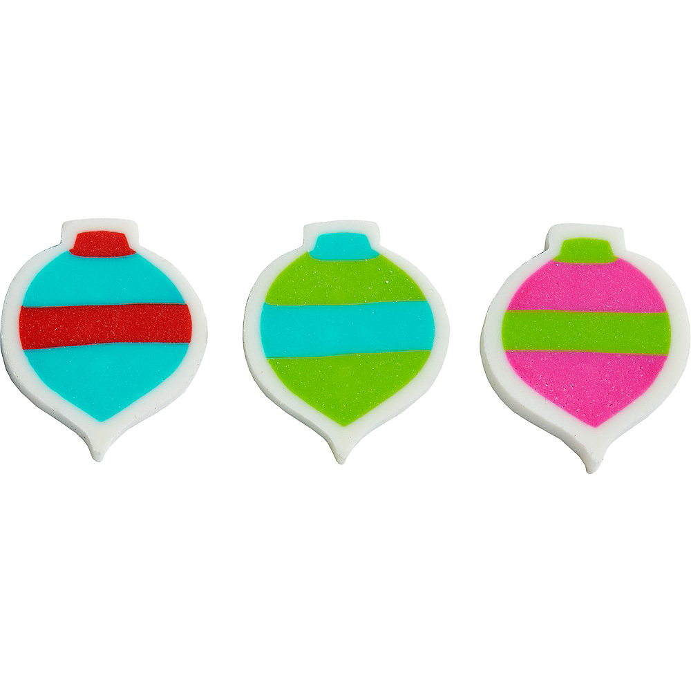 Christmas Ornament Erasers 60ct Image #1
