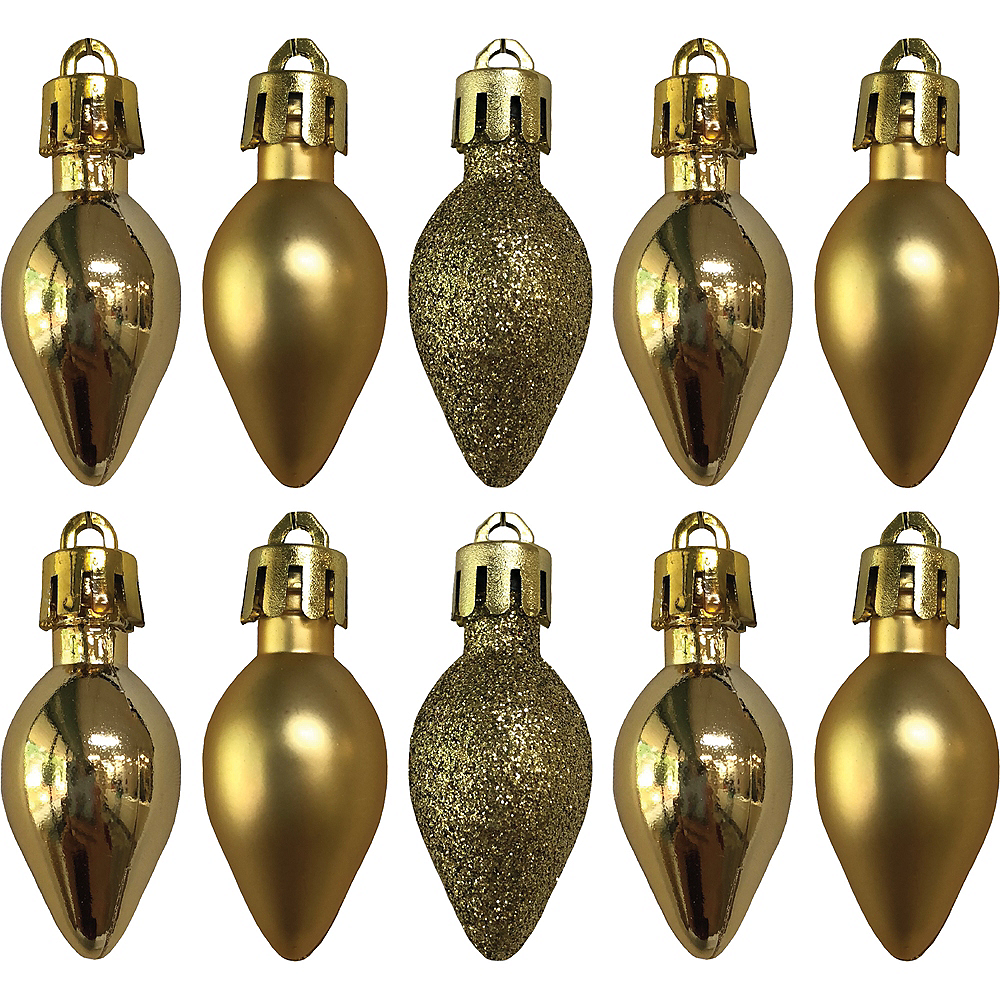 Nav Item for Gold Bulb Ornaments 10ct Image #1