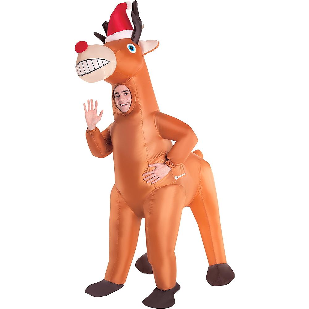 Adult Inflatable Christmas Reindeer Costume Image #1