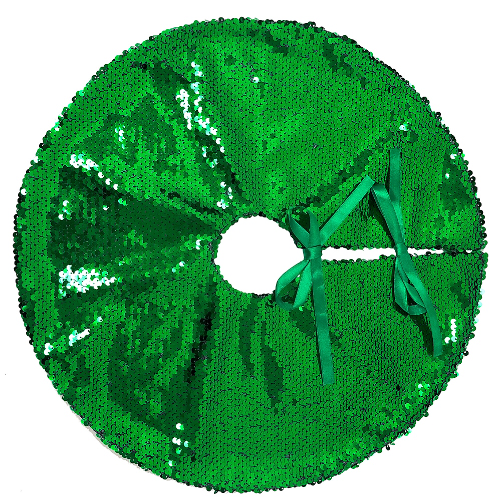 Magic Swipe Green & Red Tree Skirt Image #2