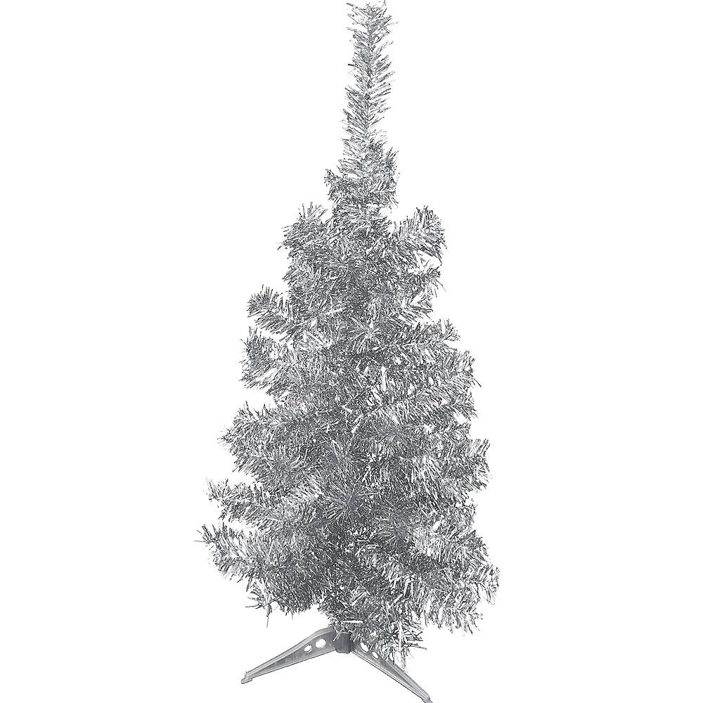 silver tinsel christmas tree image 1 - Silver Tinsel Christmas Tree