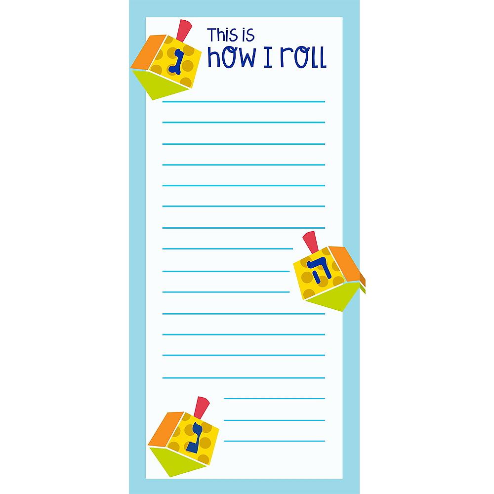 How I Roll Dreidel Magnet List Pad Image #1