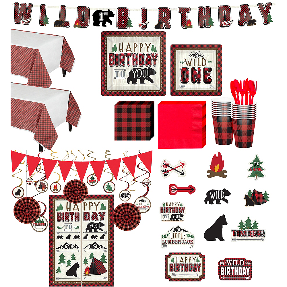 Nav Item For Ultimate Little Lumberjack 1st Birthday Party Kit 32 Guests Image 1