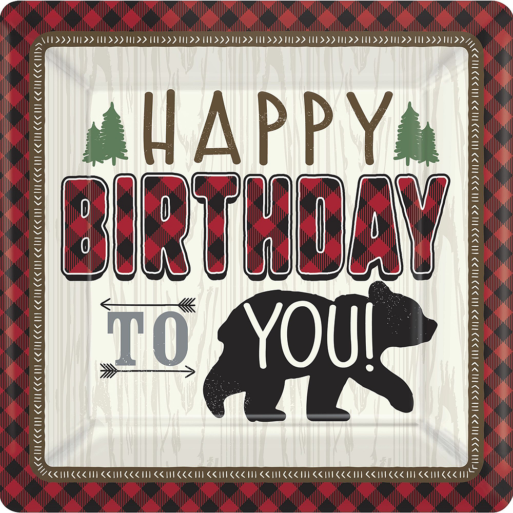 Ultimate Little Lumberjack 1st Birthday Party Kit for 32 Guests Image #2