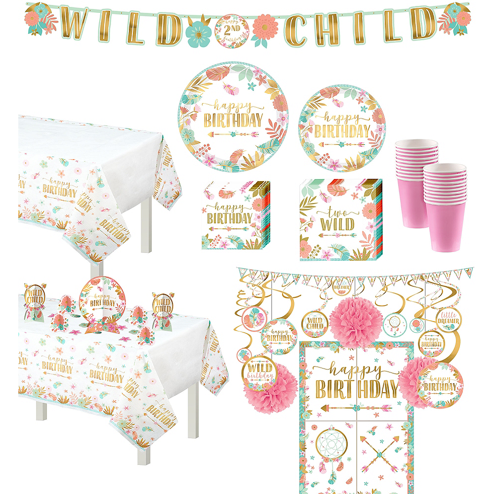 Nav Item For Ultimate Boho Girl 2nd Birthday Party Kit 32 Guests Image 1