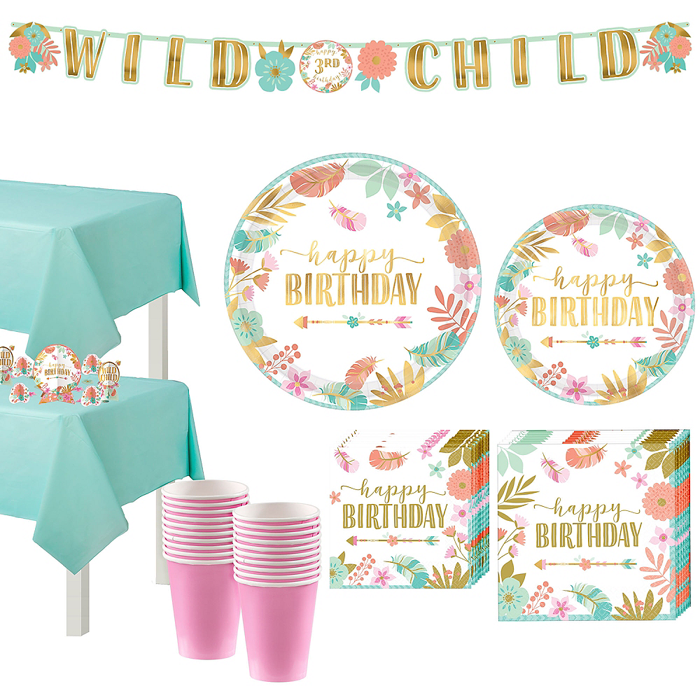 Boho Girl Birthday Party Kit for 16 Guests Image #1