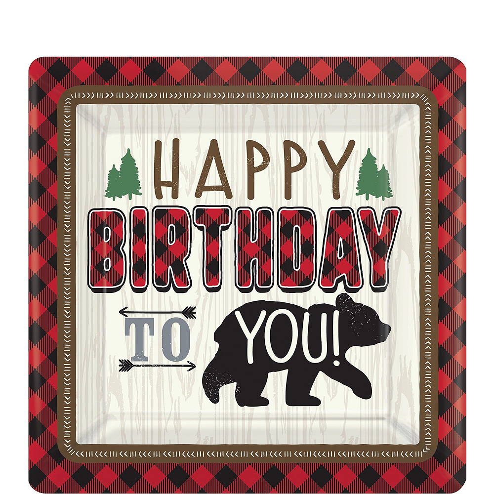 Little Lumberjack 2nd Birthday Party Kit for 16 Guests Image #2