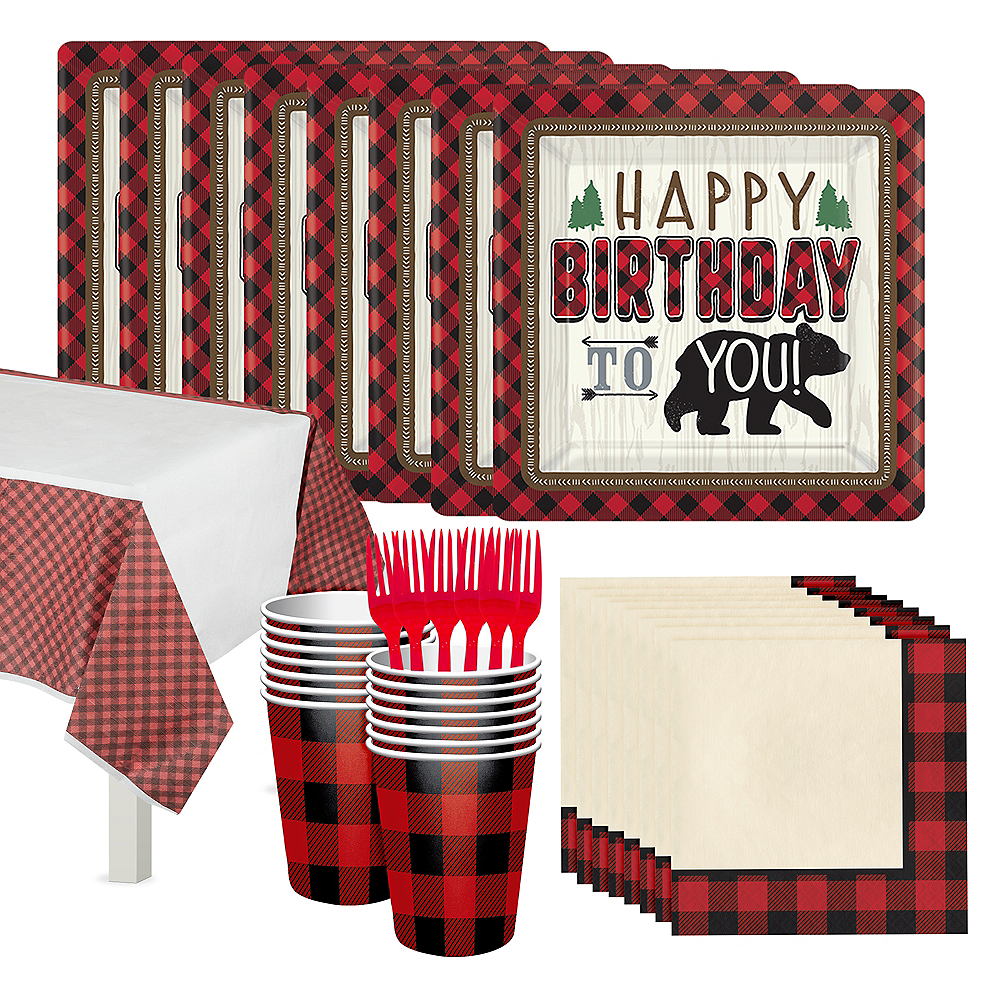 Little Lumberjack Birthday Party Kit for 16 Guests Image #1