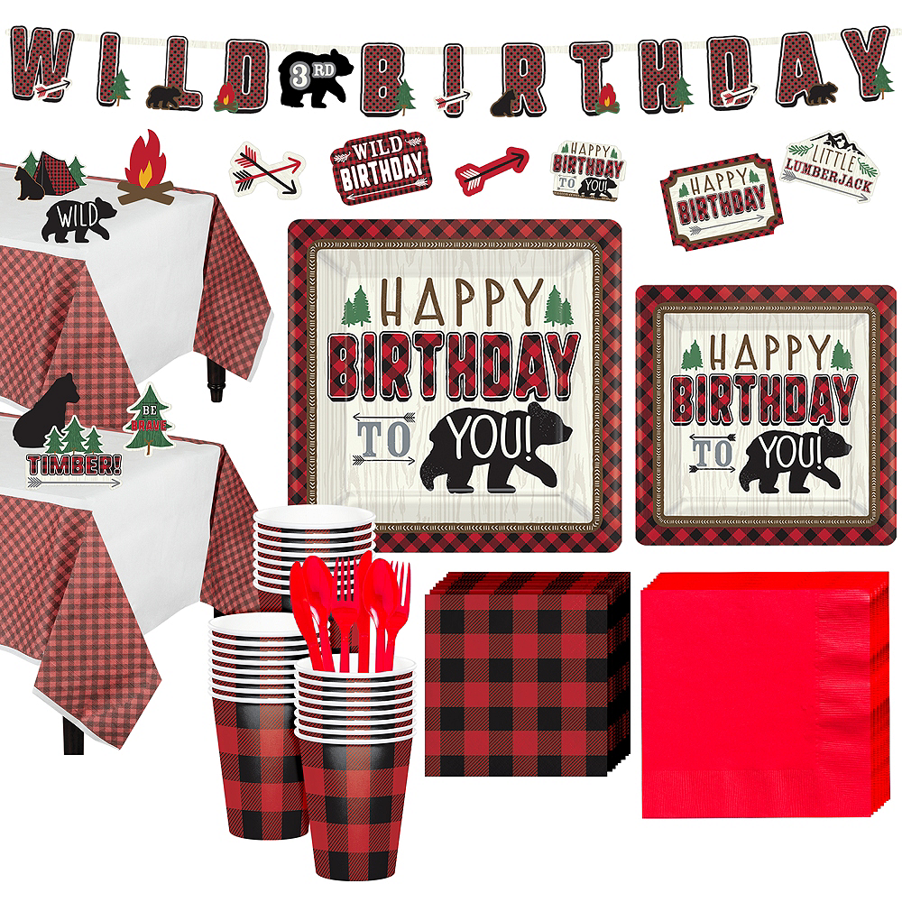 Little Lumberjack Birthday Party Kit for 32 Guests Image #1