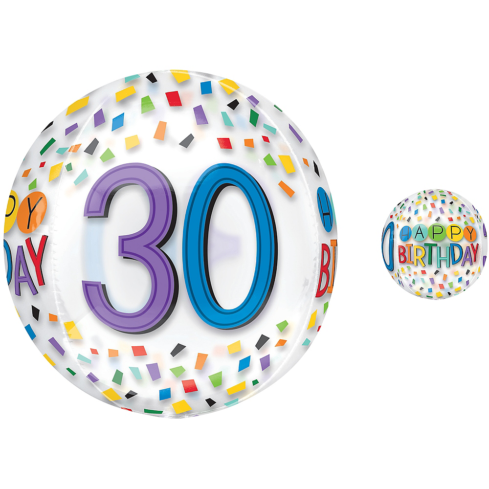 Colorful Confetti 30th Birthday Balloon