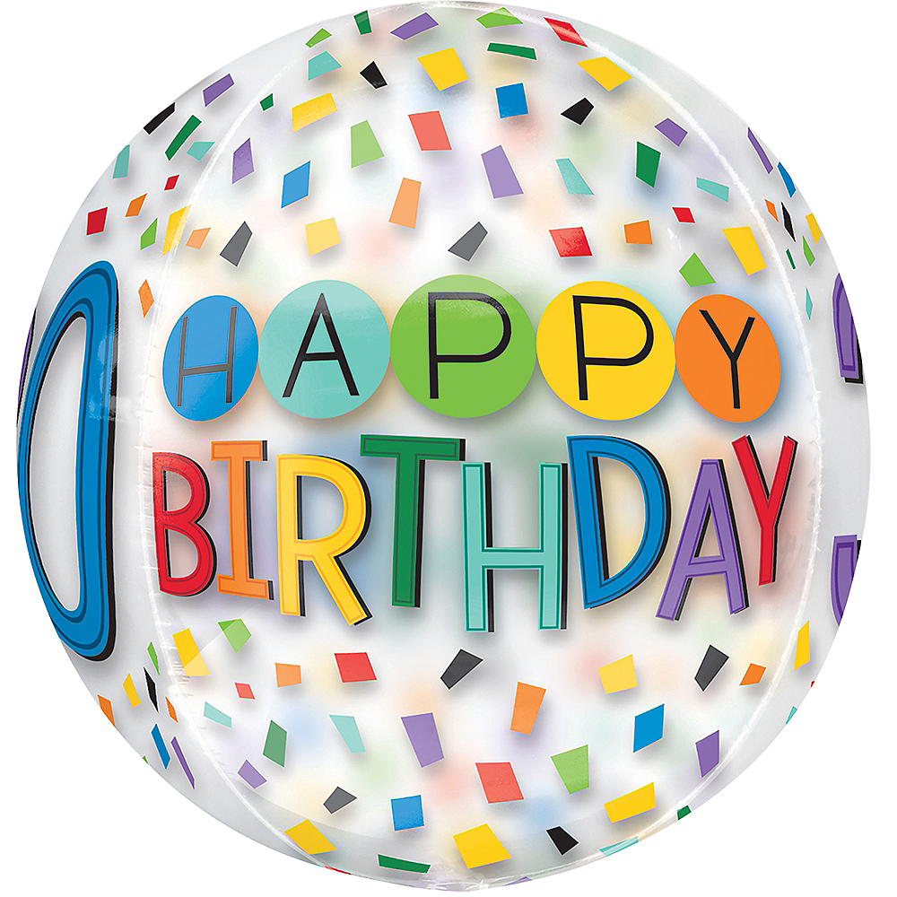 Colorful Confetti 30th Birthday Balloon - See Thru Orbz Image #2