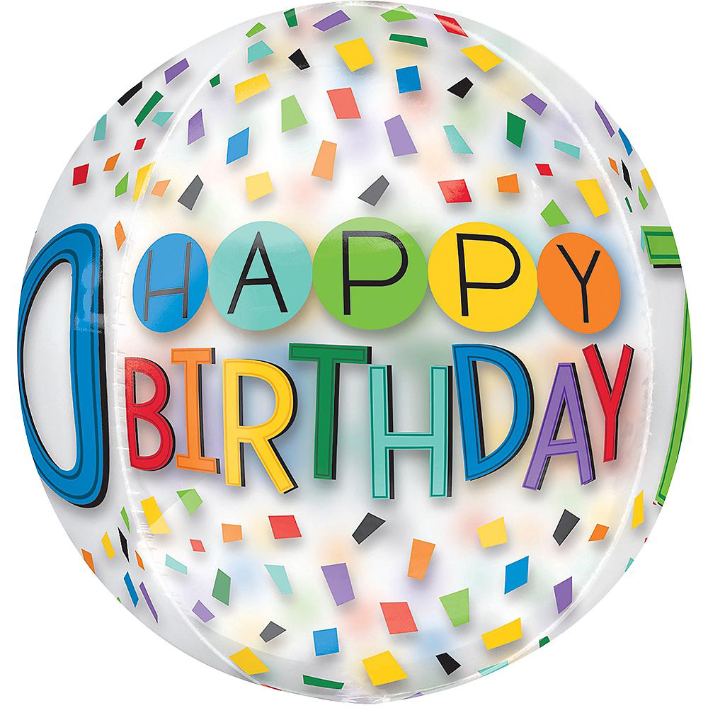Colorful Confetti 70th Birthday Balloon - See Thru Orbz Image #2