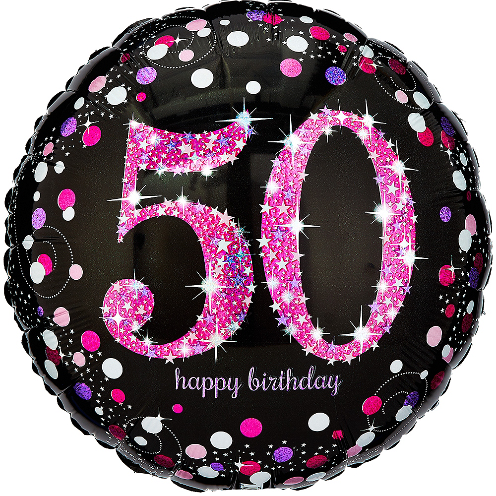 50th Birthday Balloon 18in
