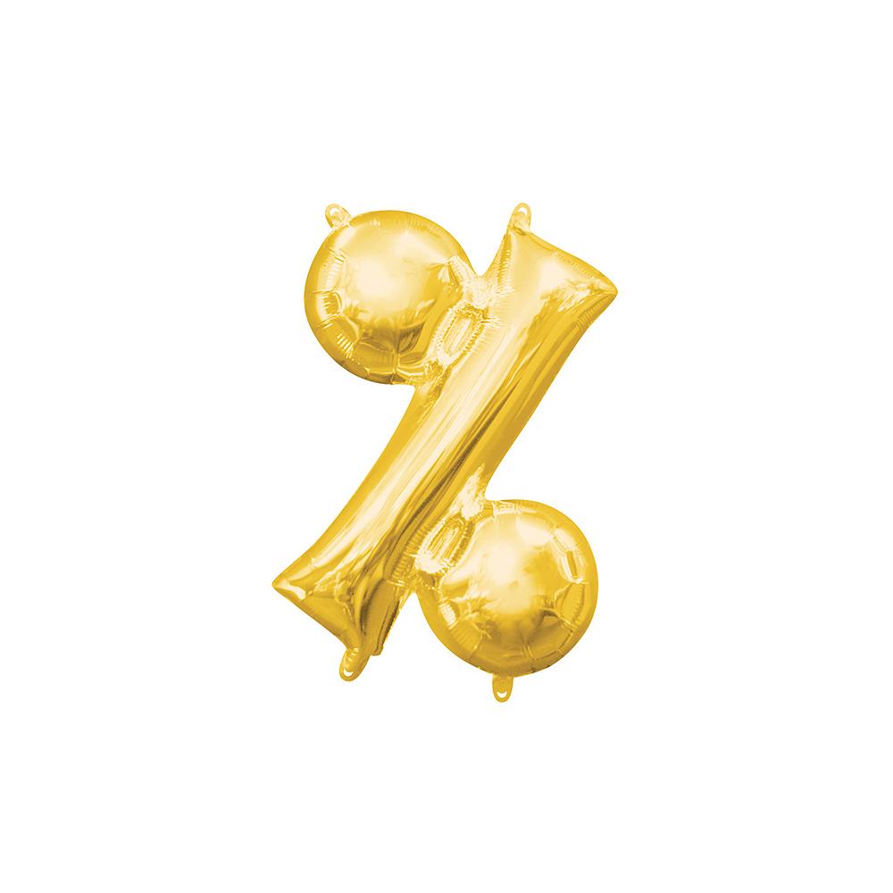 Air-Filled Gold Percent Symbol Balloon Image #1