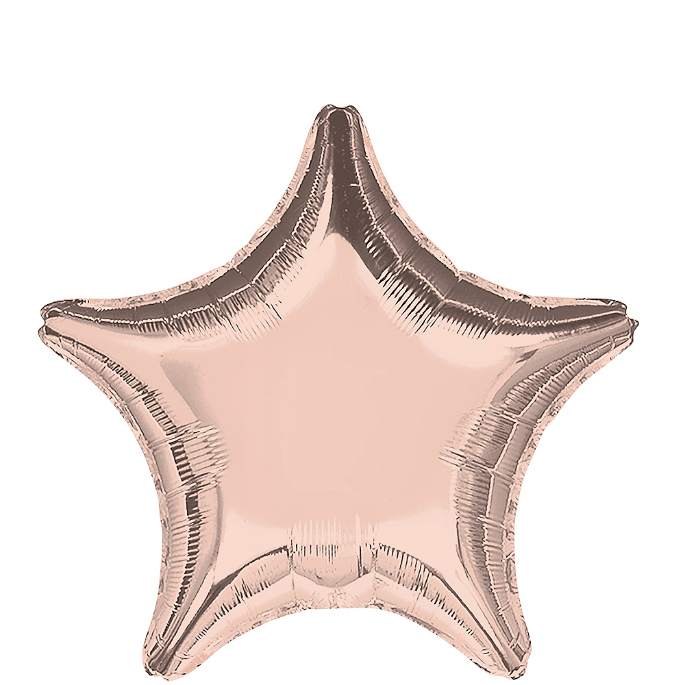 Rose Gold Star Balloon Image #1