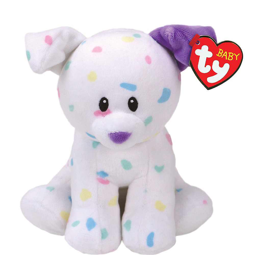 Small Sprinkles Beanie Baby Dog Plush Image #1