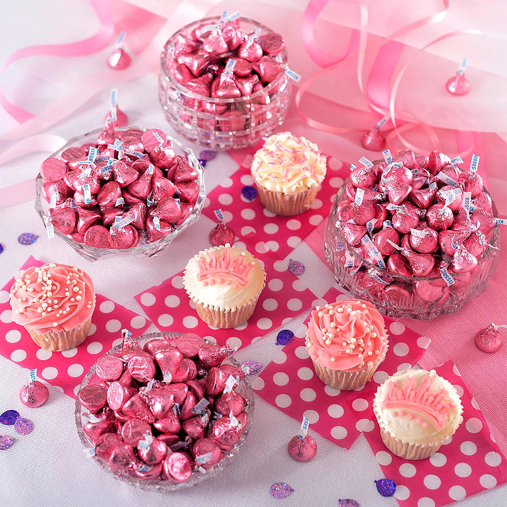 Pink Milk Chocolate Hershey\'s Kisses 112ct | Party City