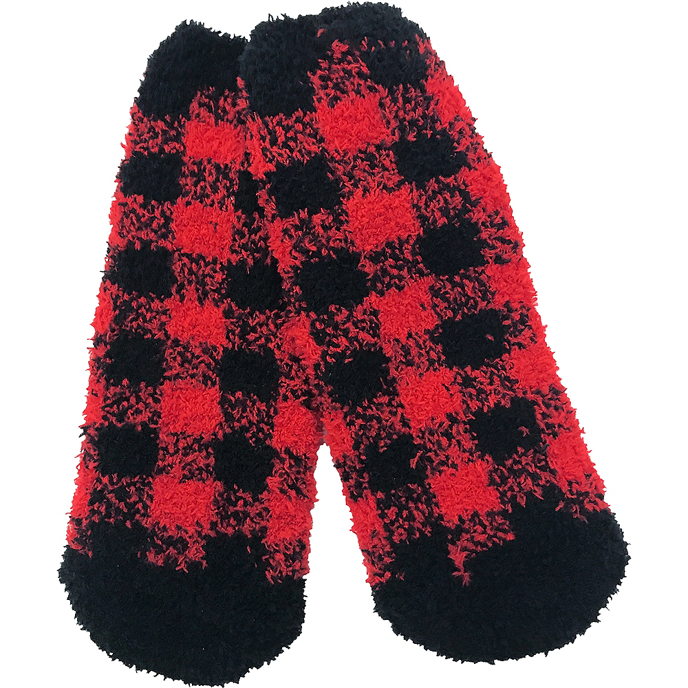 Child Grinch Buffalo Plaid Slipper Socks Image #3