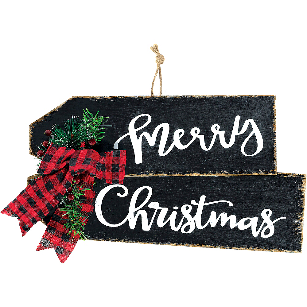 Rustic Merry Christmas Sign Image #1
