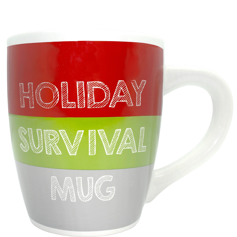 Holiday Survival Supersized Mug Image #1