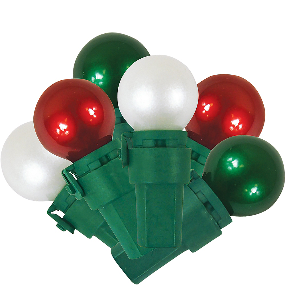 green red white pearl string lights image 1