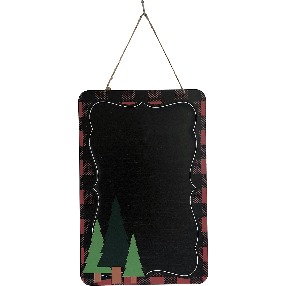 Buffalo Plaid Christmas Chalkboard Sign Image #1