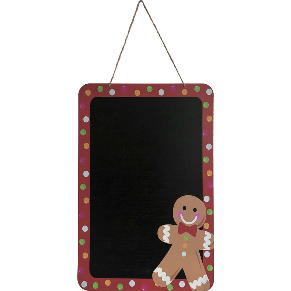 Gingerbread Man Christmas Chalkboard Sign Image #1