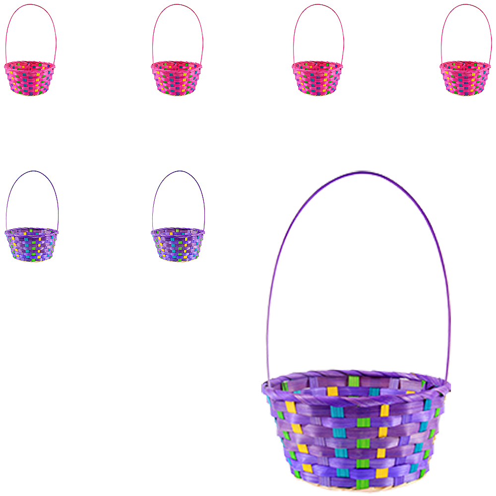 Colorful Bamboo Easter Baskets 12ct Image #1