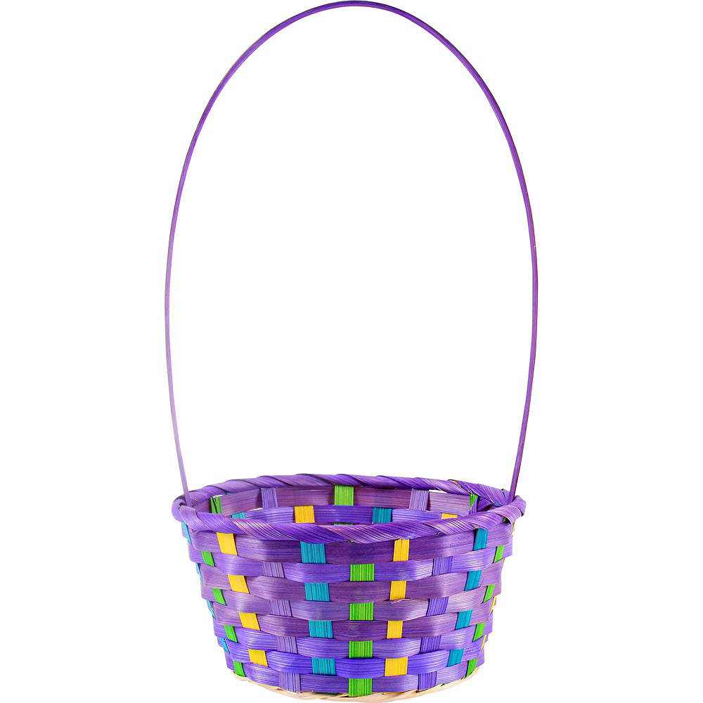 Colorful Bamboo Easter Baskets 12ct Image #3