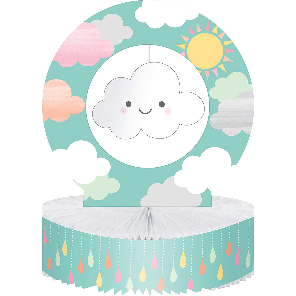 Happy Clouds Baby Shower Kit for 16 Guests Image #9