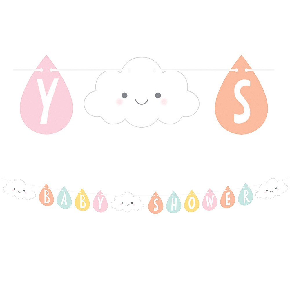 Happy Clouds Baby Shower Kit for 16 Guests Image #10