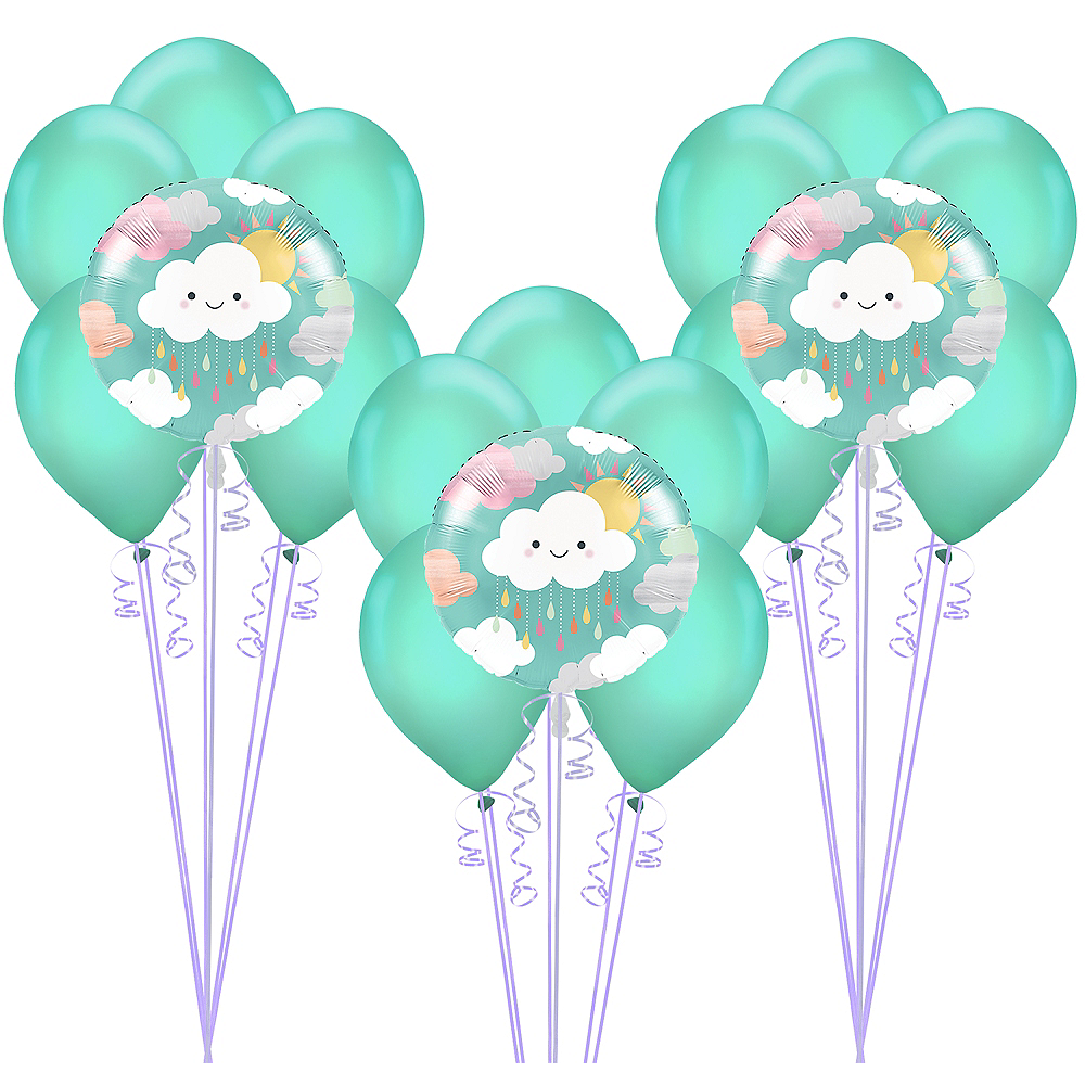 Happy Clouds Baby Shower Balloon Kit Image #1