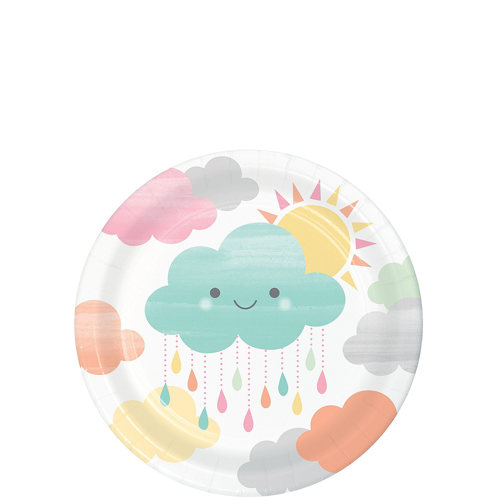 Ultimate Happy Clouds Baby Shower Kit for 32 Guests Image #2