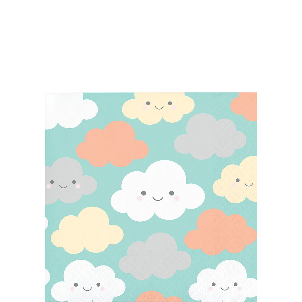 Ultimate Happy Clouds Baby Shower Kit for 32 Guests Image #4