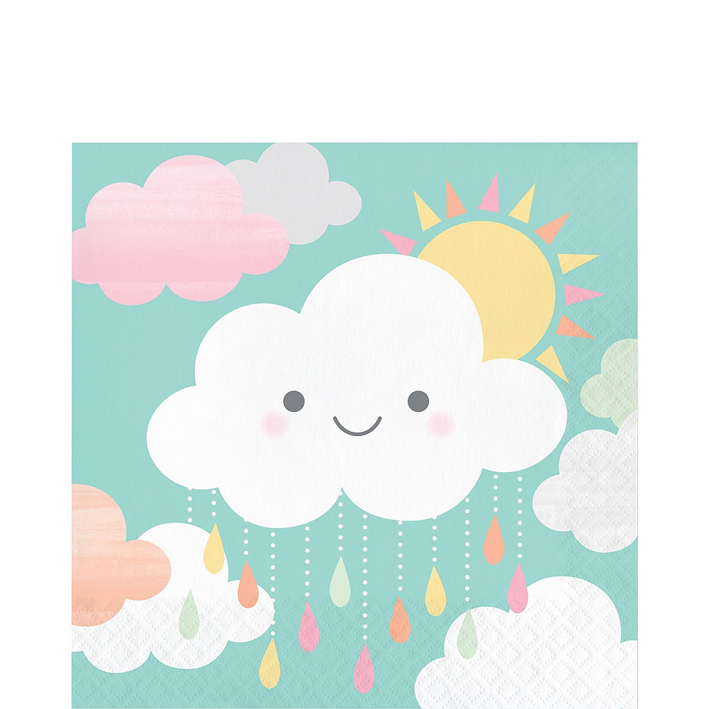 Ultimate Happy Clouds Baby Shower Kit for 32 Guests Image #5