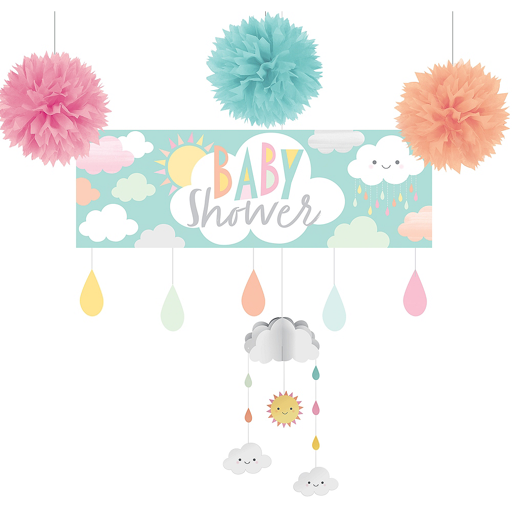 Happy Clouds Baby Shower Decorating Kit Image #1