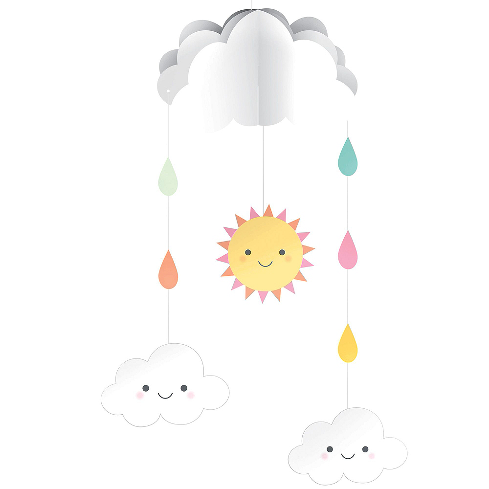Happy Clouds Baby Shower Decorating Kit Image #3