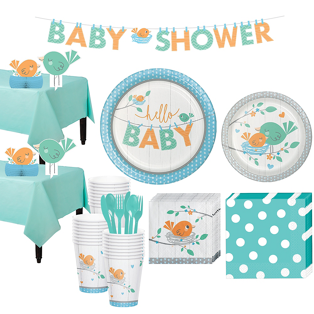 Hello Boy Baby Shower Kit for 32 Guests Image #1
