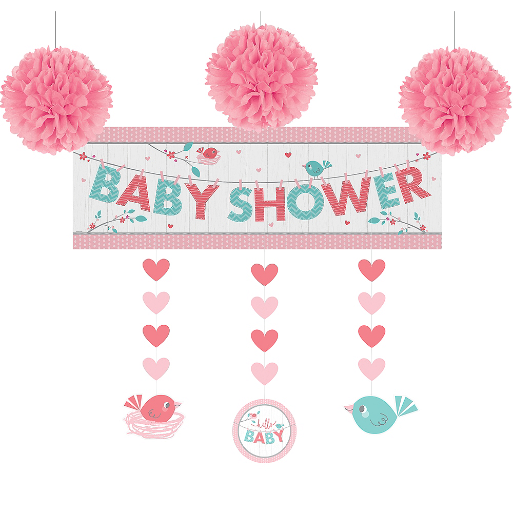Hello Girl Baby Shower Decorating Kit Party City