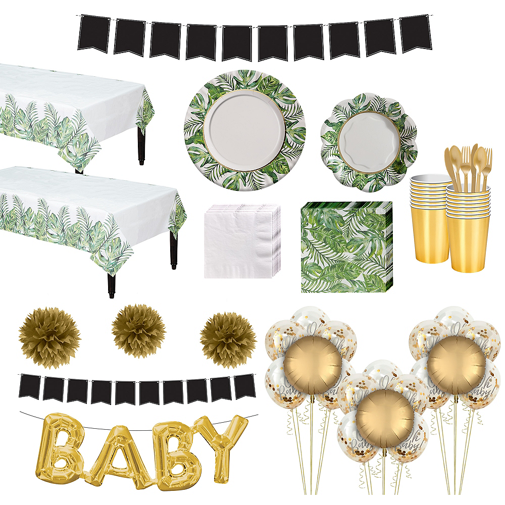 Ultimate Tropical Baby Shower Kit For 32 Guests Party City