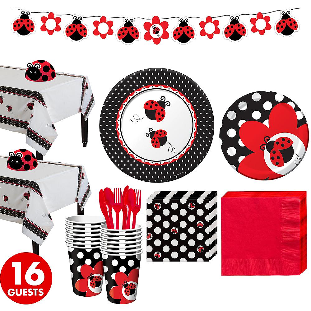 Ladybug Baby Shower Kit for 16 Guests Image #1