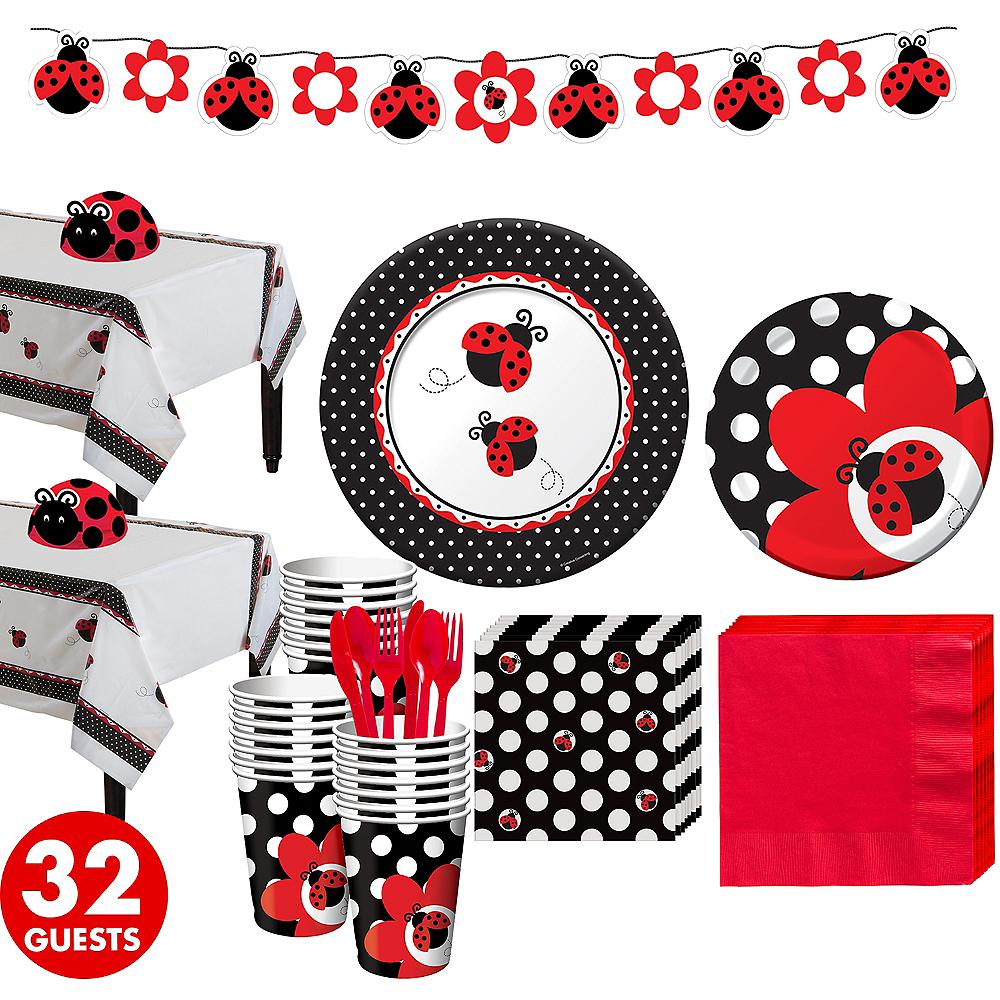 Ladybug Baby Shower Kit for 32 Guests Image #1