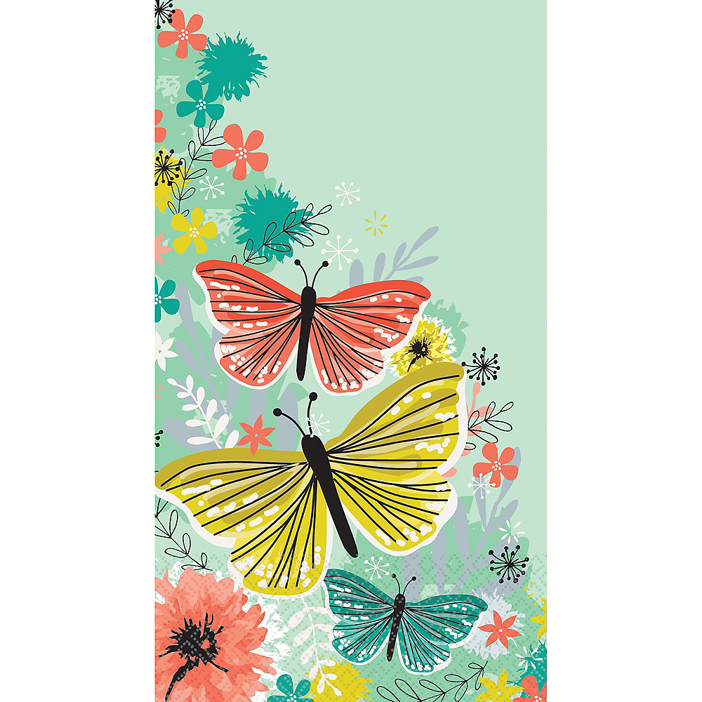Bright Butterflies Guest Towels 16ct Image #1