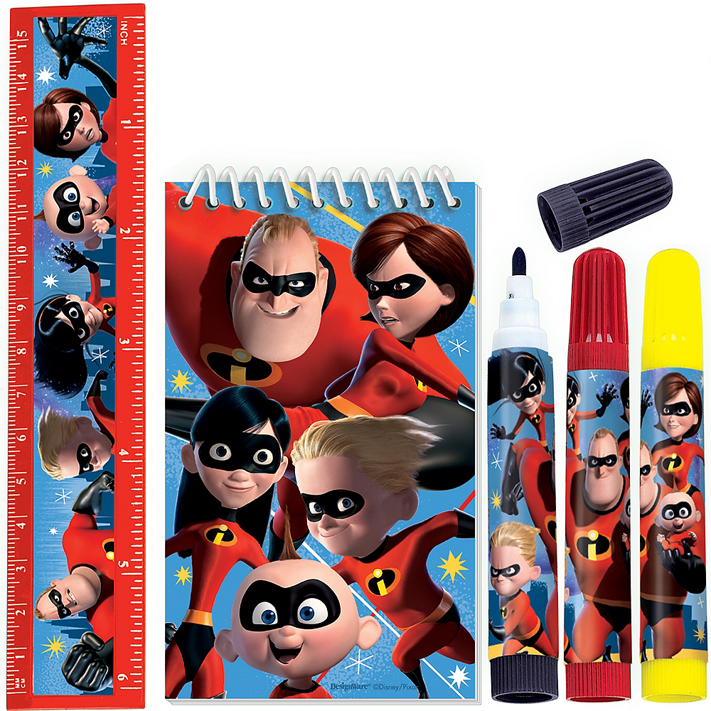 Incredibles 2 Stationery Set 5pc Image #1