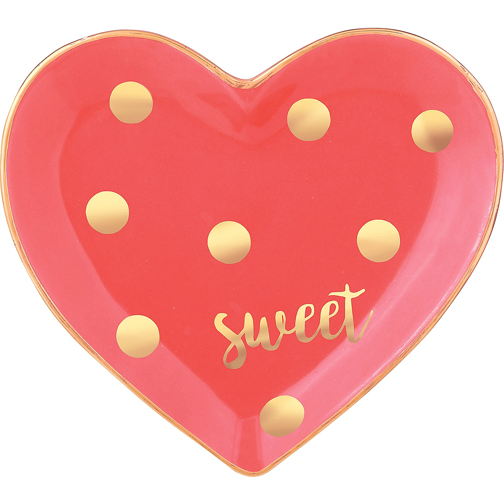 Polka Dot Sweet Heart Trinket Dish Image #1
